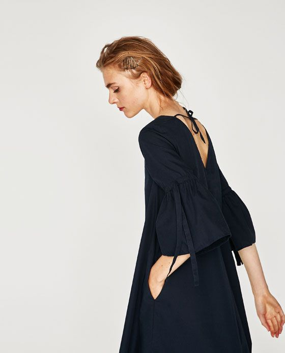 Image 4 of DRESS WITH FRILLED SLEEVES from Zara   Fashion ... 10a2ec74894