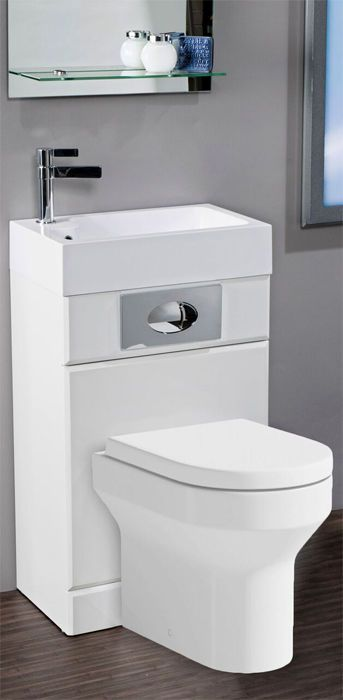 Fantastic Idea For Space Saving Wc And Basin All In One Unit Complete With Concealed Wc Flush Small Toilet Room Space Saving Toilet Small Bathroom With Shower