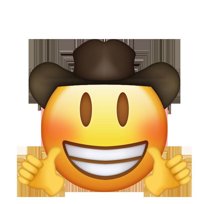 Cowboy Thumbs Up Funny Emoji Emoji Meme Emoji