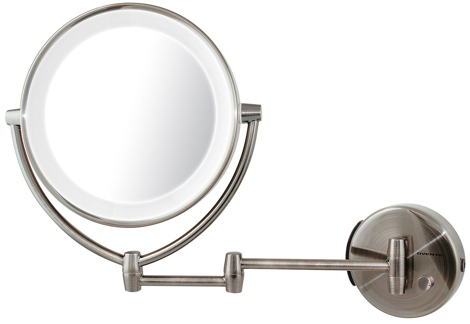 Ovente led lighted wall mount makeup mirror 1x10x magnification ovente led lighted wall mount makeup mirror 1x10x magnification 95 inch nickel brushed you can get more details by clicking on the image mozeypictures Images