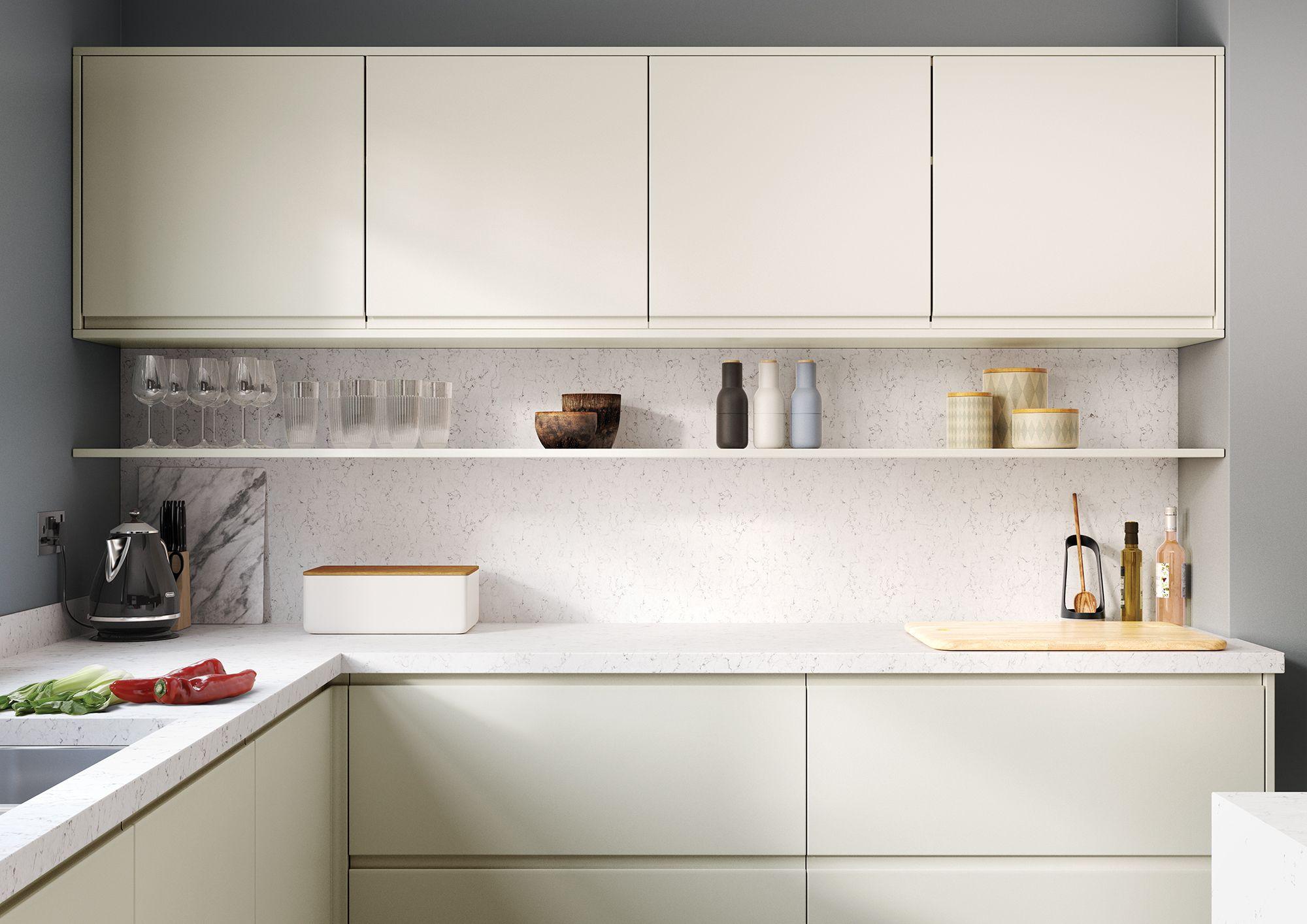 Strada Matte Handleless Kitchen In Porcelain Handleless Kitchen Online Kitchen Design Kitchen Design