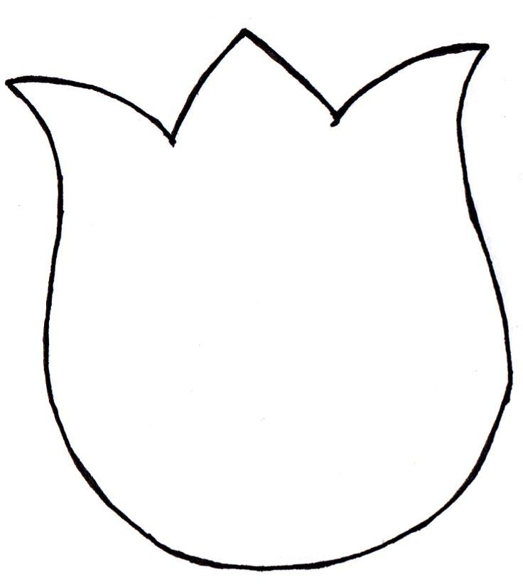Basic Tulip Outline Google Search Spring Crafts Preschool Spring Crafts For Kids Flower Template