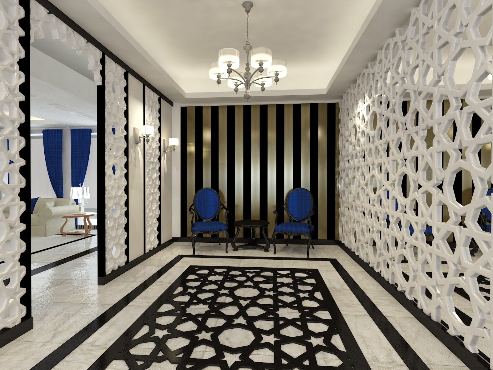 Islamic modern interior design google search banks for Modern architectural interior designs