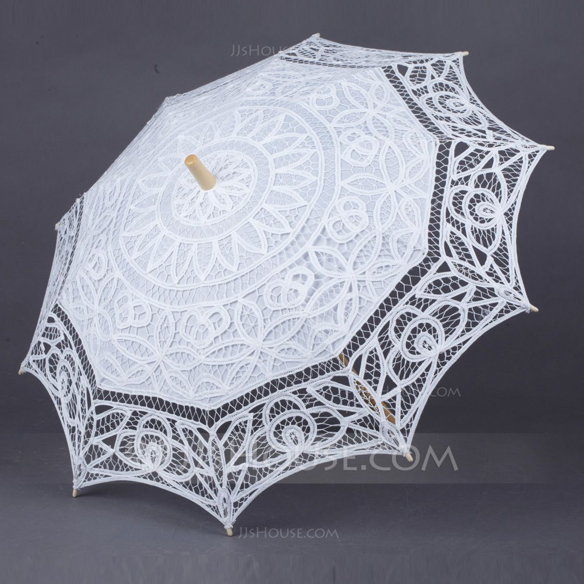Umbrellas Bridal Parasols Women's Wedding Straight Handle Cotton Wood No No White Ivory Color & Style representation may vary by monitor. Not responsible for typographical or pictorial errors. Elegant Wedding Umbrellas
