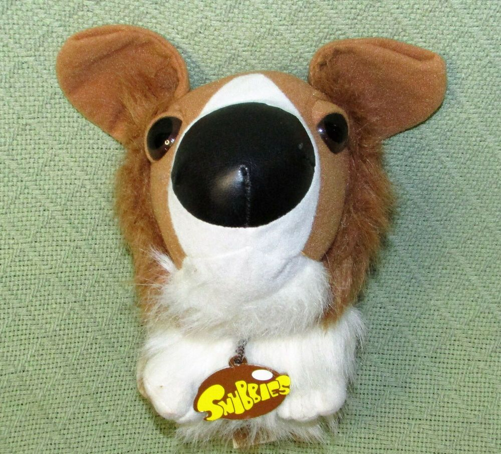 11 Snubbies Collie Dog Plush Stuffed Big Head Animal Toy Network
