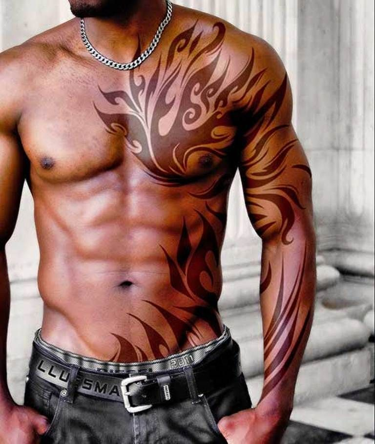 Shoulder Tattoos For Men Tribal Chest Tattoos Cool Chest Tattoos Tribal Tattoos