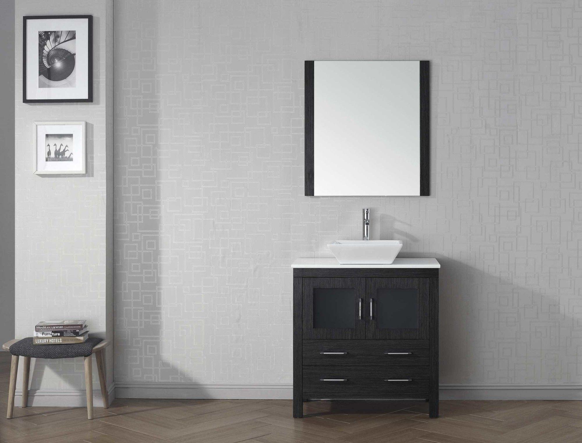 """Dior 32"""" Single Bathroom Vanity Set with Mirror"""