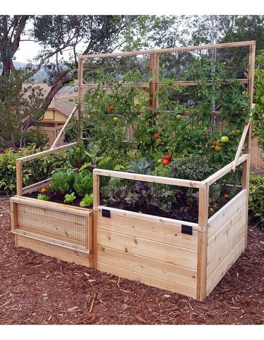 This Convertible Raised Garden Bed Is A Western Red Cedar