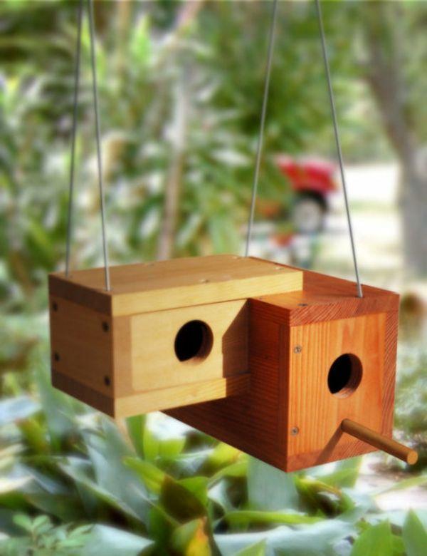 doppeltes haus f r vogel aus holz vogelhaus futterhaus pinterest vogel holz und vogelh user. Black Bedroom Furniture Sets. Home Design Ideas