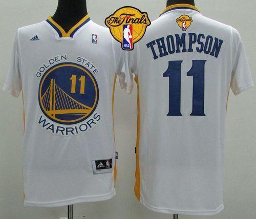 dec89de3c Revolution 30 Warriors  11 Klay Thompson White Alternate The Finals Patch  Stitched NBA Jersey