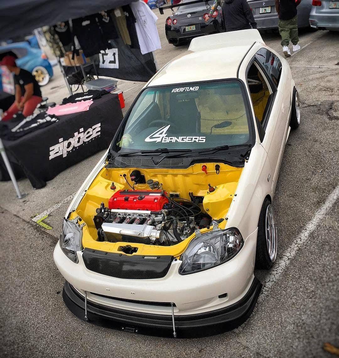 The power of ek dreamer white ek hatchback Honda civic