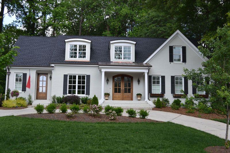 Best Dark Roof Black Shutters Wood Door Window Boxes 640 x 480