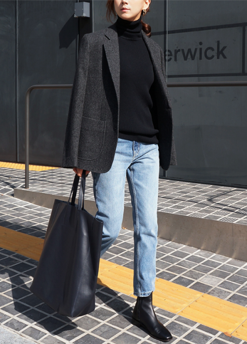 Uniform. (Death by Elocution) - Fall Layers | Black Sweater | Grey Jacket | Jac...