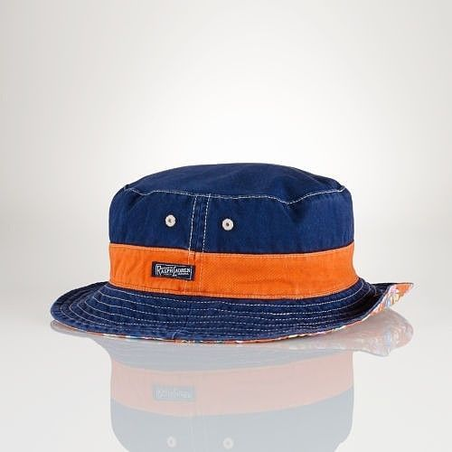 ac52995ff49d9 Polo Ralph Lauren Reversible Floral Print Bucket Beach Hat Navy Blue Orange  S M  RalphLauren  Bucket  casual