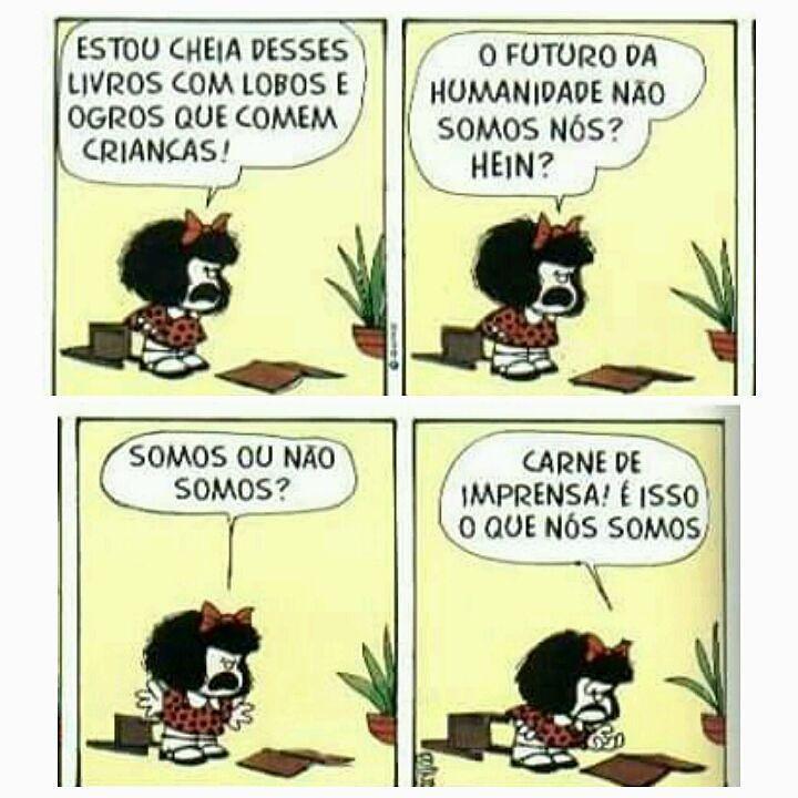 Carne de imprensa isso que nós somos. Haha #mafalda #mafaldica by oficialmafaldica