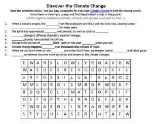download our free climate change worksheet for kids - Kids Printable Worksheets