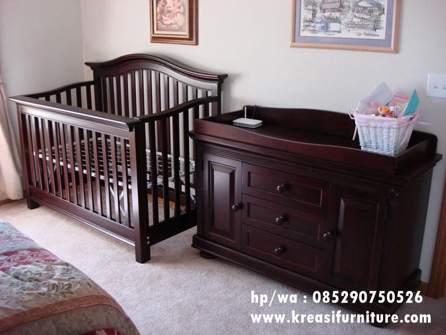 Kamar Bayi Set Minimalis Natural Kreasi Furniture Jepara Kamar Bayi Boks Bayi Tempat Tidur Bayi