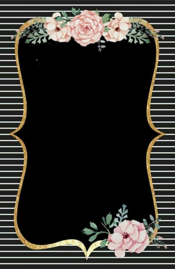 plantilla, dorado, flores, negro, mujer, pareja, novios, xv años ...