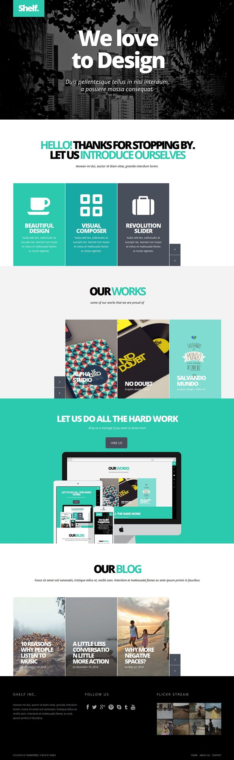 Web Design Inspiration - wordpress themes - simple - photo + design - home page