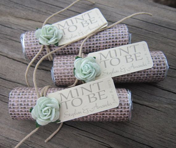 Bridal Shower Wedding Favor Mint To Be Favors With Personalized Tag On Etsy 36 00
