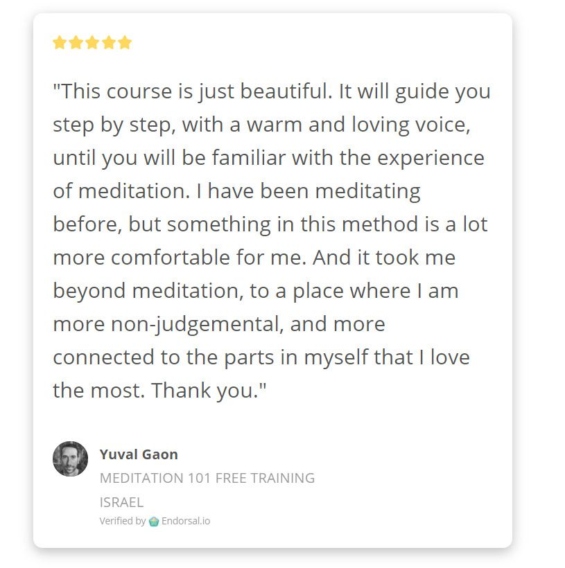 We Re Getting Amazing Reviews On Our Free Mediation Training Beautiful Right I Really Appreciate All Your In 2020 Awareness Better Life Spiritual Practices