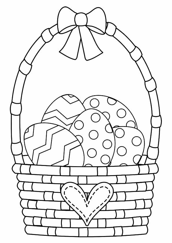 10 Cute Easter Basket Coloring Pages For Your Toddler