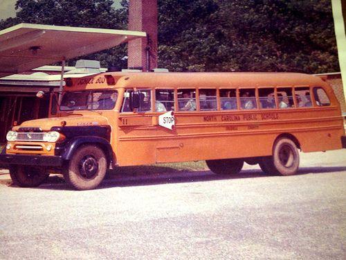Blue Bird School Bus 1960 Dodge Nc Omaha Orange Digitized From
