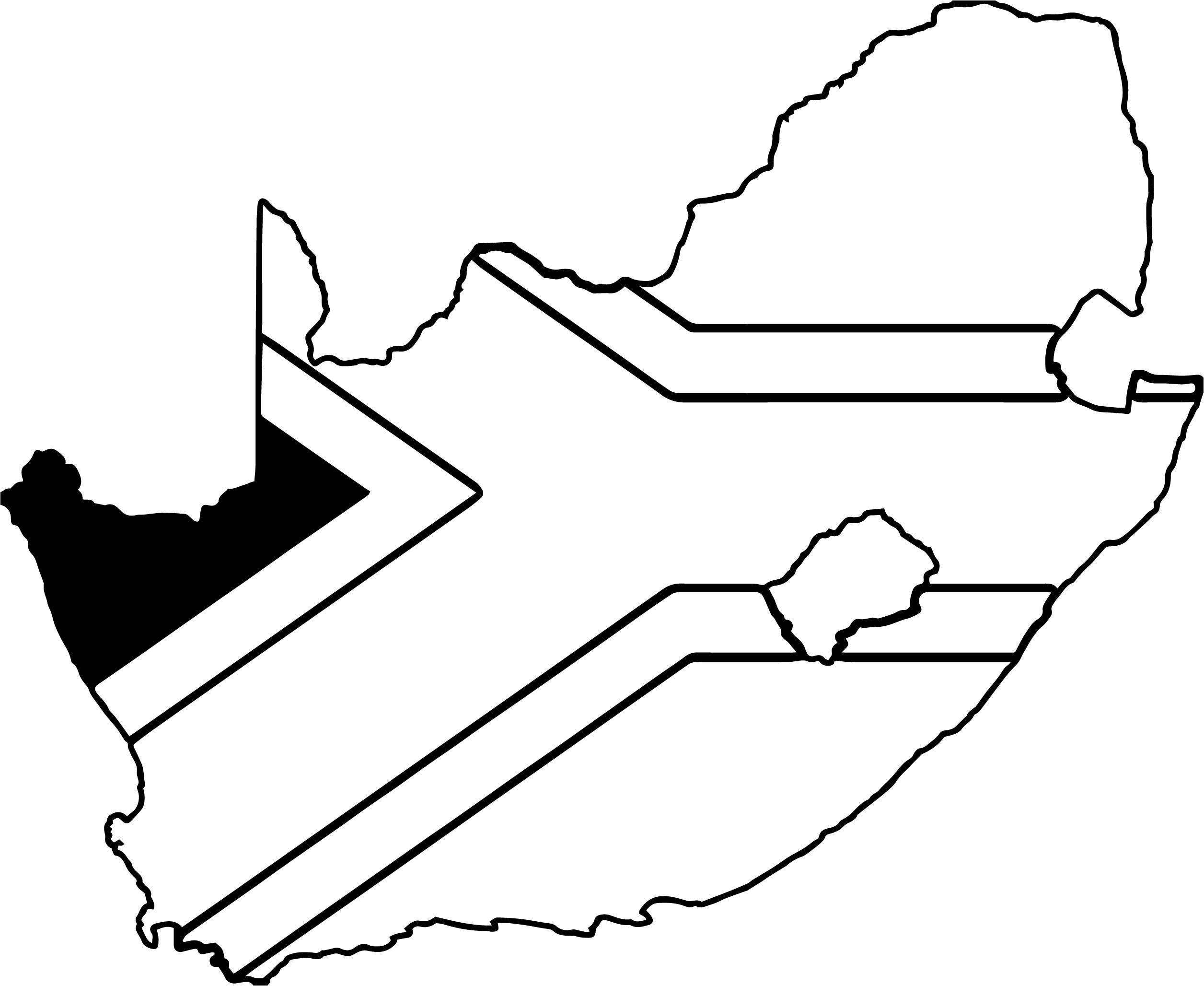 Nice South Africa Map Coloring Page South Africa Map Africa Map