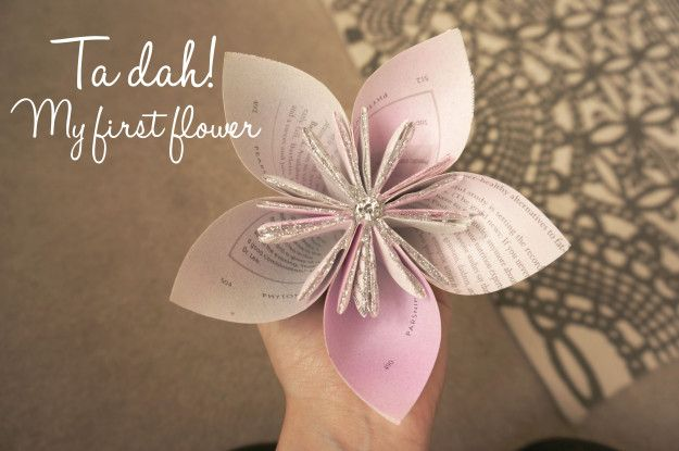 Paper origami flowers