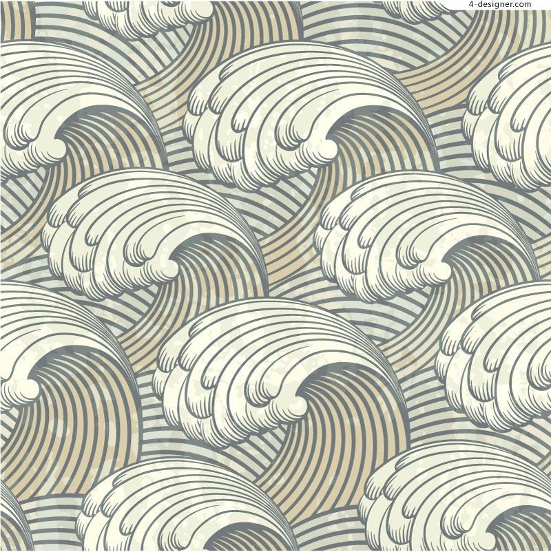 Repeating rolling wave pattern | pattern making ...