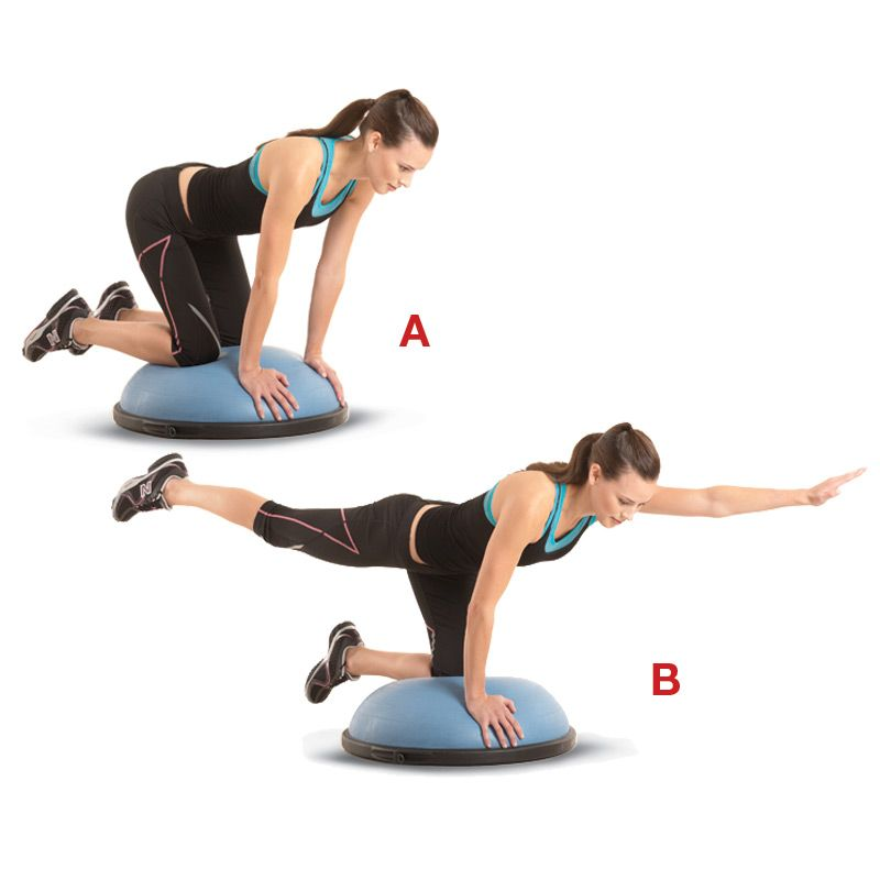 Balance Ball Legs: To Do It: Position Your Hands And Knees On A BOSU (a
