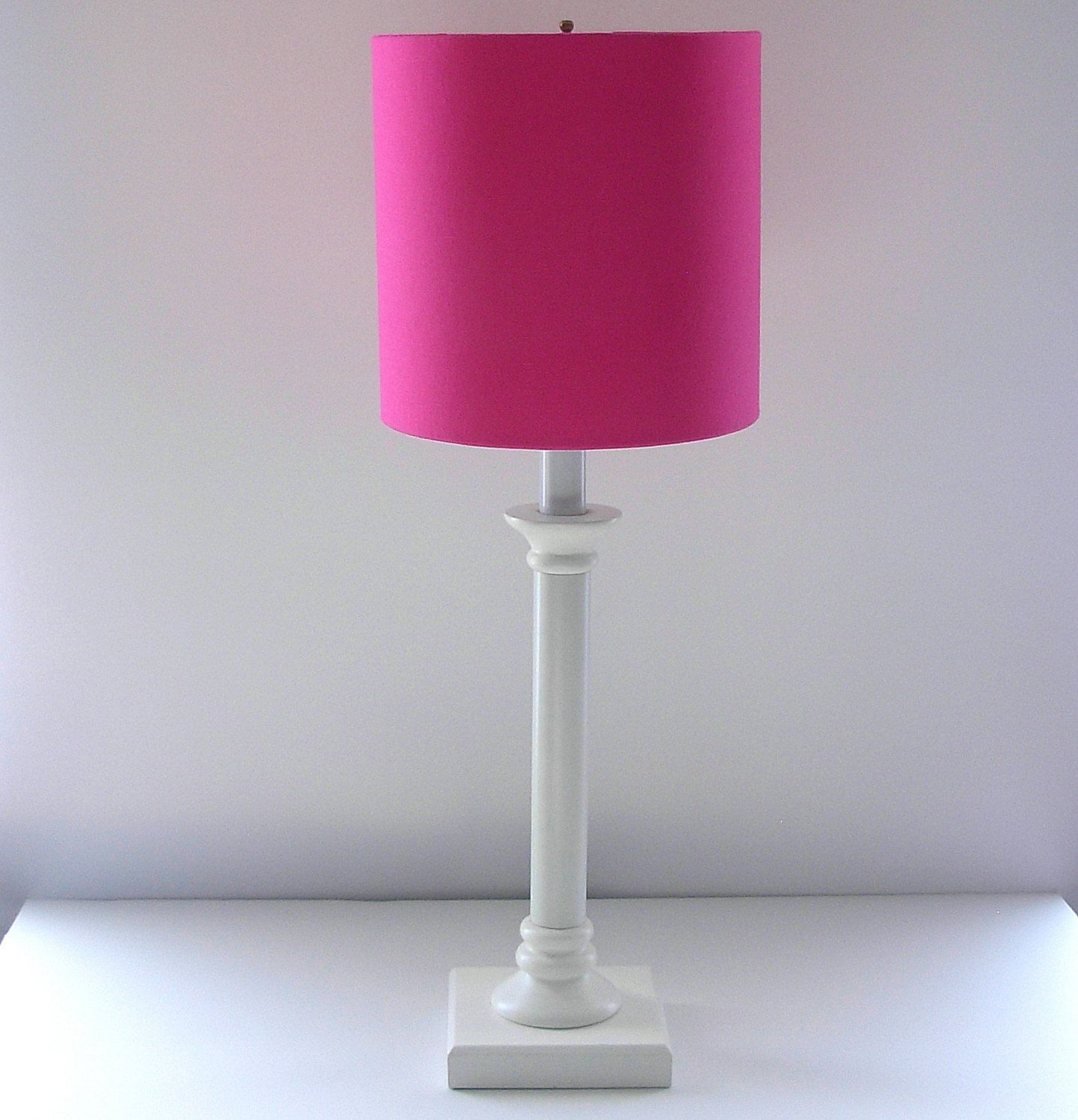 Lamp shade pinkdrum lampshadeallother colors available items similar to pink lamp shade drum lampshade table lamp pink drumshade light bedroom on etsy geotapseo Image collections