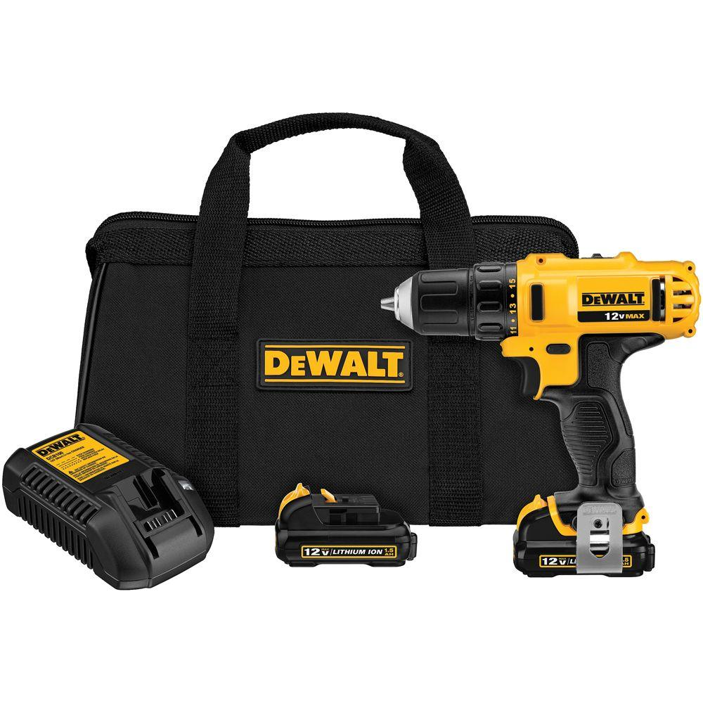 Dewalt 12 Volt Max Lithium Ion Cordless 3 8 In Drill Driver Kit With 2 12 Volt Batteries 1 5ah Charger And Tool Bag Dcd710s2 Cordless Drill Reviews Drill Driver Impact Driver