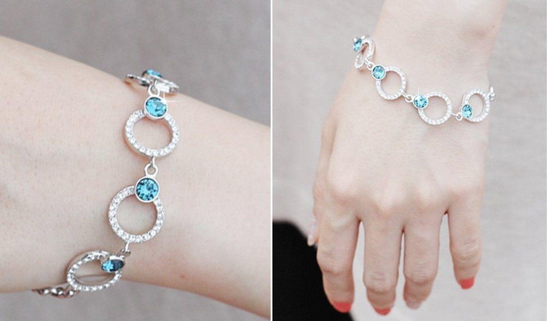 Amazon.com: dearWYW Genuine Swarovski Elements Crystal Bracelets SW596: Jewelry