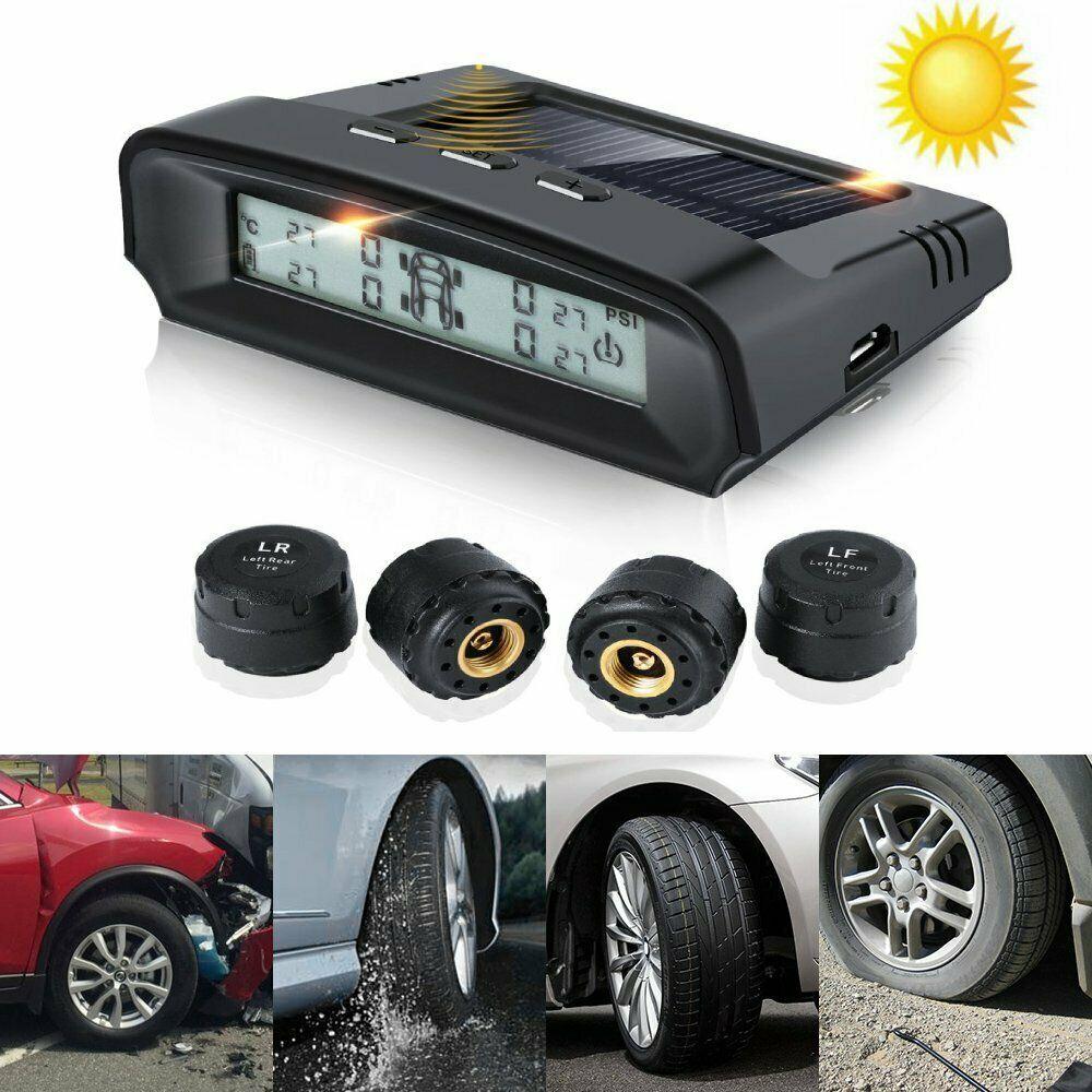 Advertisement Ebay Car Lcd Tire Pressure Monitoring System Auto Wireless Solar Power Wireless Ba Tire Pressure Monitoring System Solar Power Tire Accessories