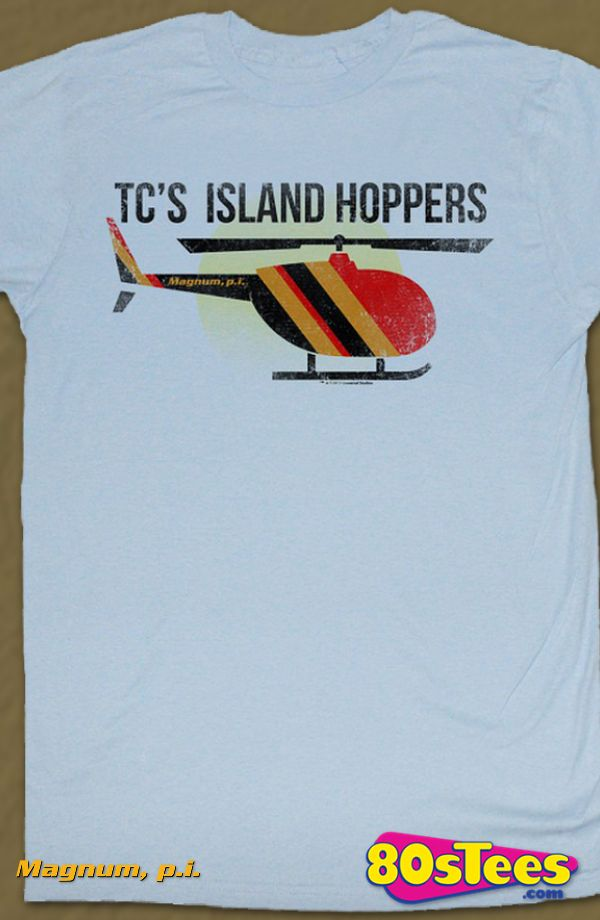 757d85529 Island Hoppers Magnum PI T-Shirt: Magnum PI Mens T-Shirt Magnum Geeks:  Every day can be special wearing this cool men's style design with great  art and ...