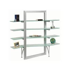 Dainolite dbs 400 gl sv bookshelf elegance personified in - Glass free standing shelves ...