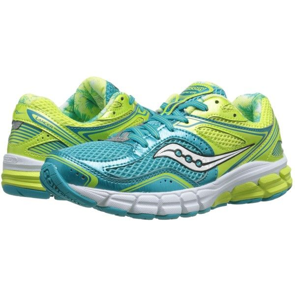 Womens Shoes Saucony Lancer Blue/Yellow