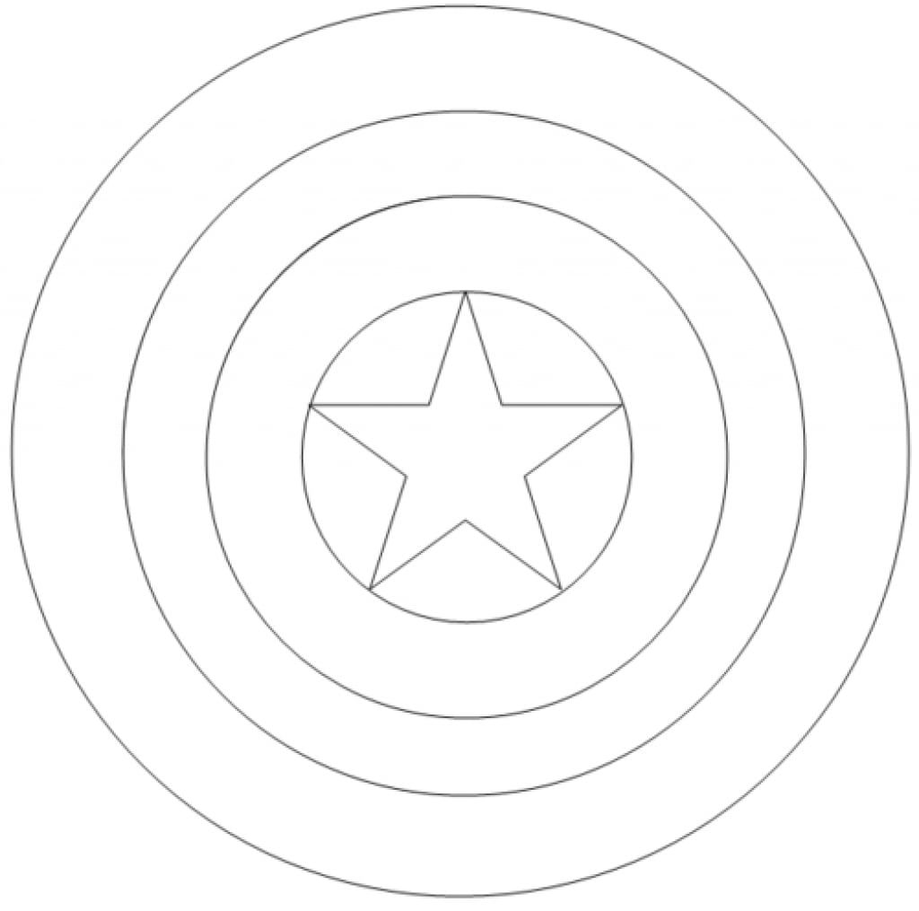 Captain America Shield Coloring Page Captain America Logo