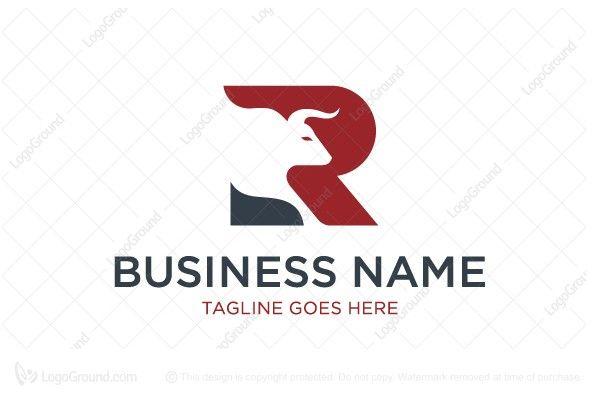 Letter R Bull Logo Finance Logo Letter R Stock Market Investing