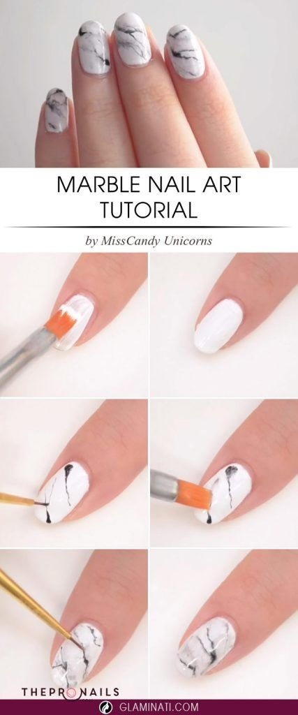 Marble nails art tutorials, it\'s easier than you though, hope you ...