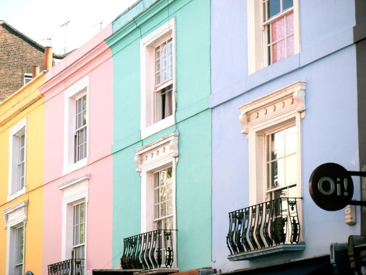 Pastel colors are making a comeback in graphic design. Pastel Apartments, Pastel Building, Exterior Color, Pastel ...