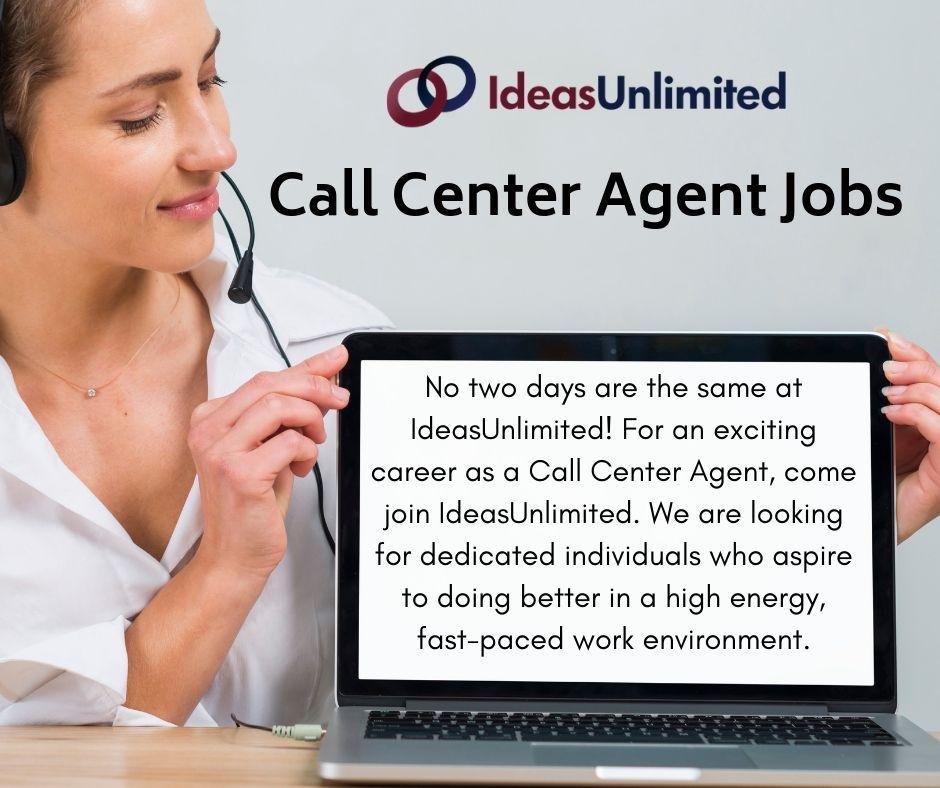 Job Vacancies at IdeasUnlimited Call center, High energy