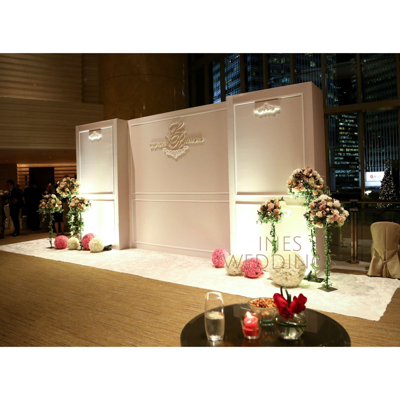 elegant wedding backdrop with