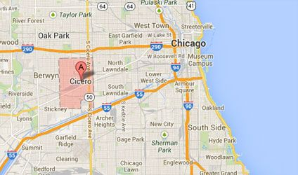 cicero chicago map This suburb in Illinois immediately west of