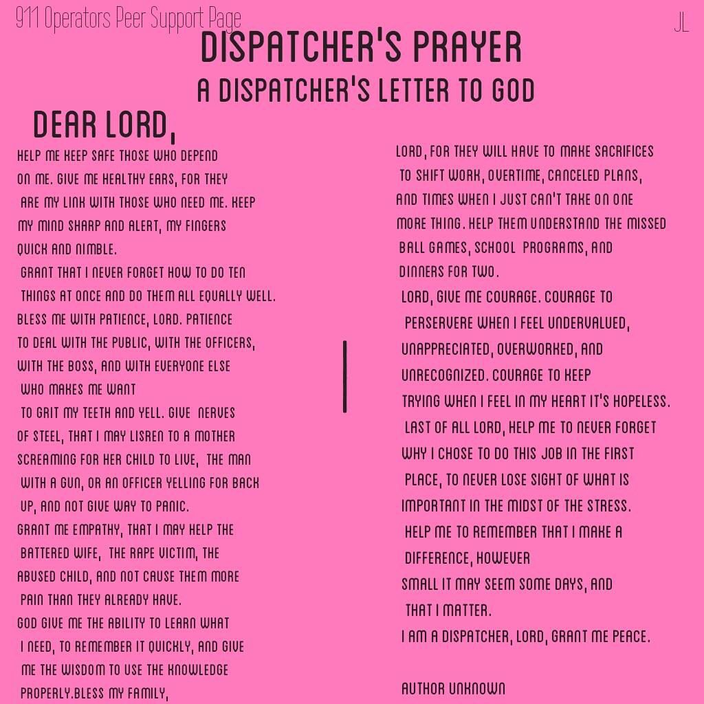 Dispatcher Job Description Cool Dispatcher's Prayer  How Accurate And Honest  Dispatcher Stuff .