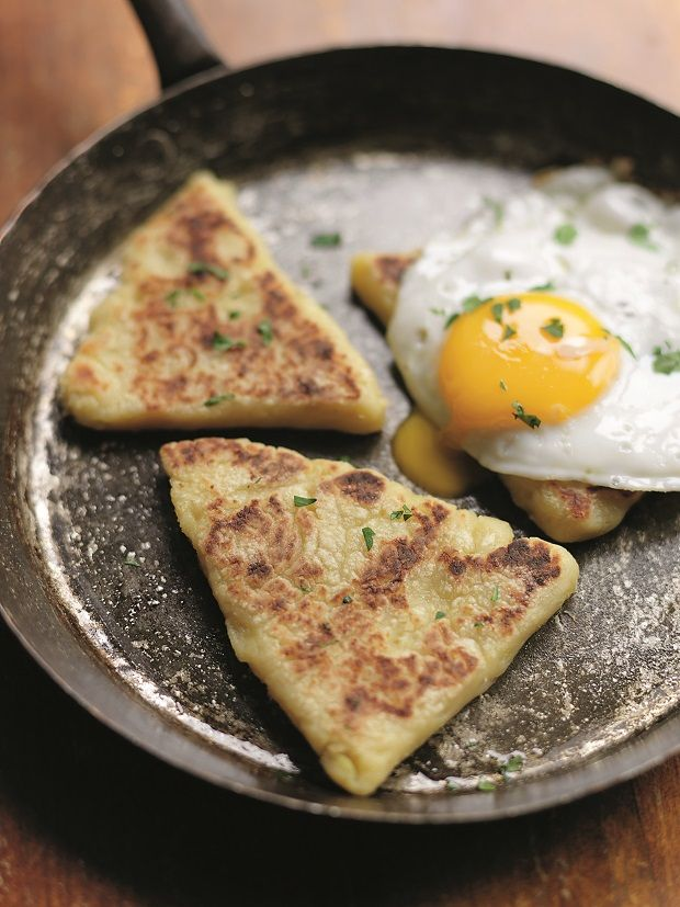 Easy Irish potato bread in a skillet by chef Kevin Dundon
