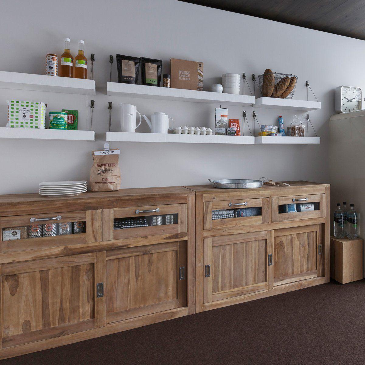 Ampm Cuisine Meubles éléments Indépendants En Bois Meubles - Meuble escalier bois exotique pour idees de deco de cuisine