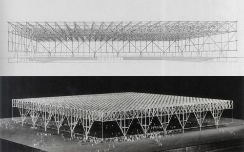 mies convention hall chicago 1952