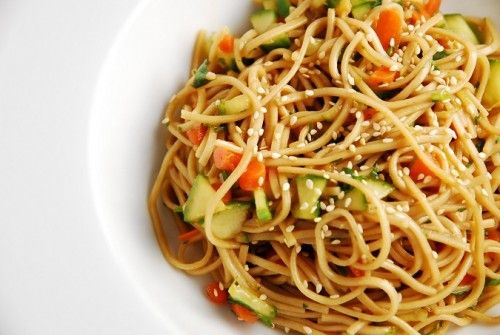 Cold Noodle Salads on Pinterest | Potluck Recipes Summer, Cold Peanut ...